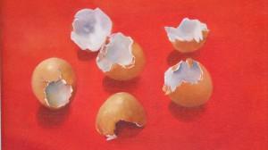 Egg shells red